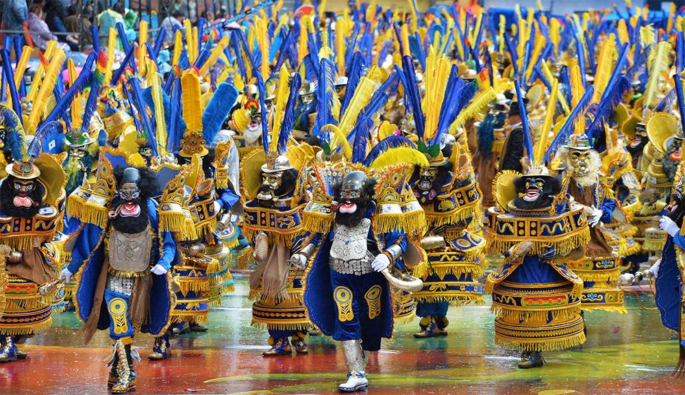 Danzantes en Carnaval de Oruro