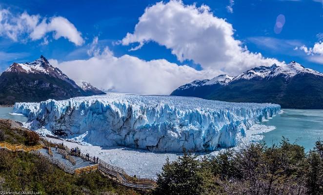 Pared frontal de glaciar perito moreno