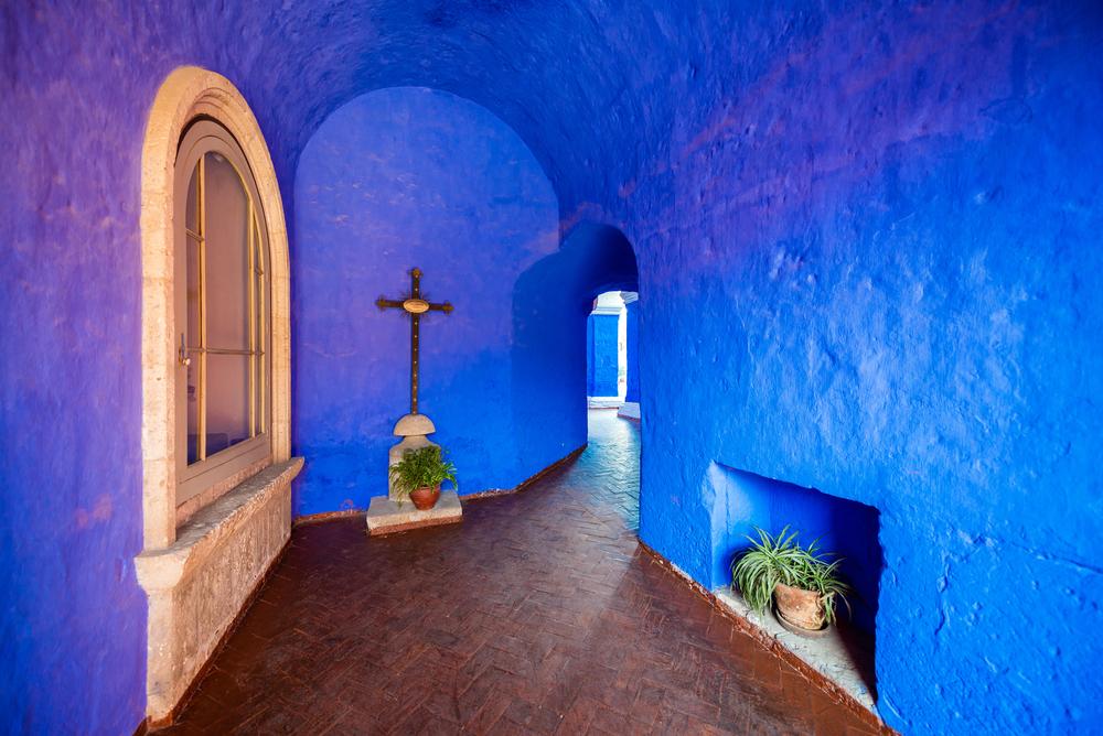 Muros azules del monasterio de santa catalina