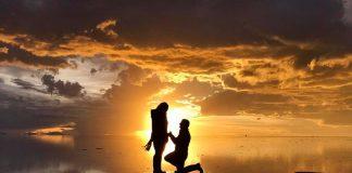 Pareja pide matrimonio en el salar de uyuni