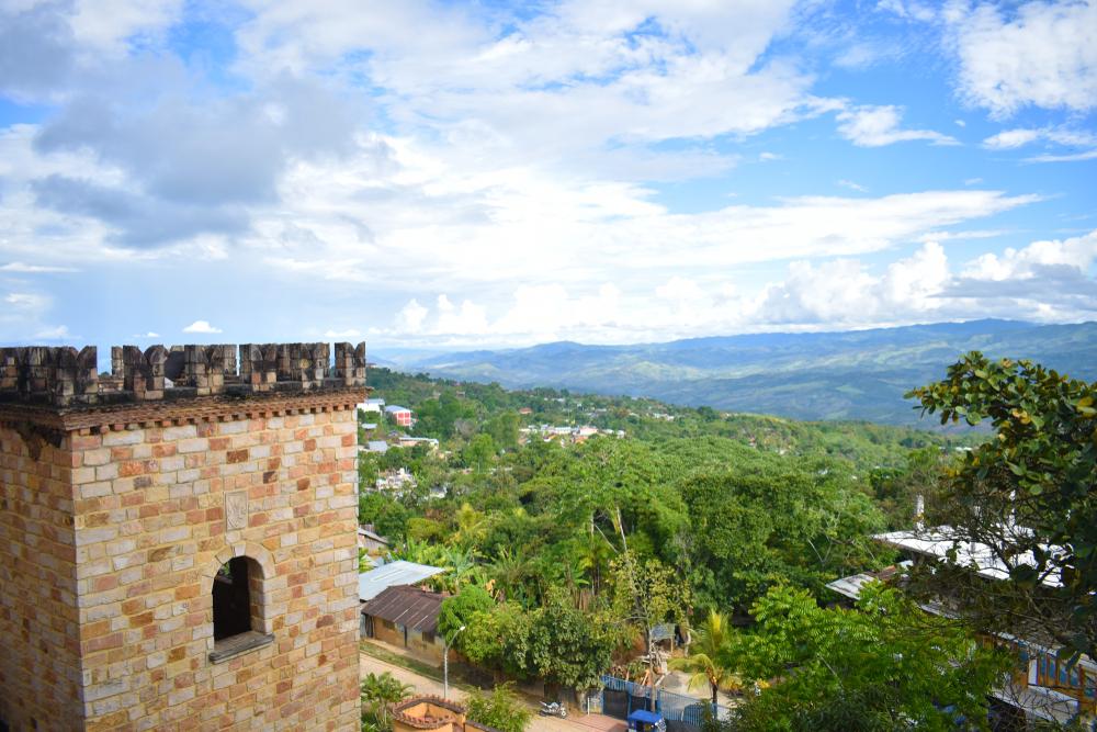 Vista de Lamas desde castillo