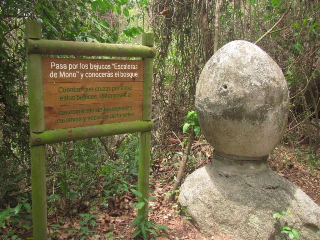 Roca ancestral en el tayrona