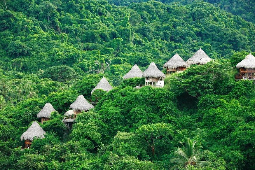 Alojamientos en medio de la selva del tayrona