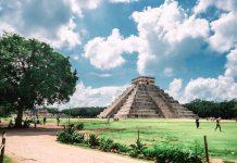 Piramide en antigua coidad de Chichen Itzá