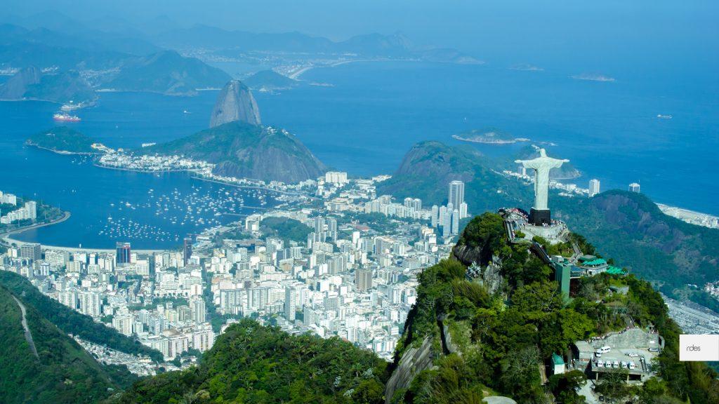Ciudad de Rio de Janeiro desde el aire